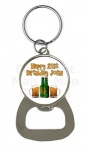 Personalised Beer Bottle Opener Birthday Keyring
